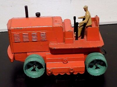 Vintage Dinky Supertoys 563 Blau Knox Heavy Tractor, 1948-54. As Found