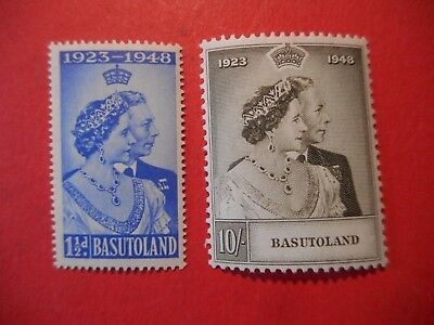 BASUTOLAND 1948 SILVER WEDDING set of 2 SG 36/37 FINE MOUNTED MINT
