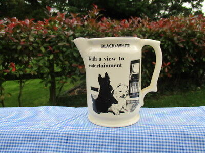BLACK & WHITE WHISKY WATER JUG ,  VIEW TO ENTERTAINMENT No4 IN SERIES OF 8