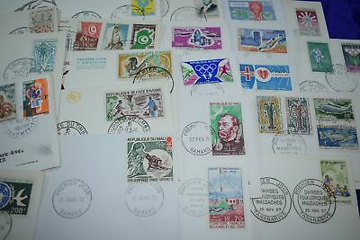Africa French 1960s Influence Good Quality Stamp Collection of 43 FDCs