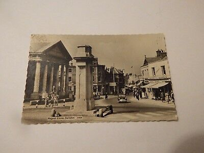 SWINDON REGENT CIRCUS POSTCARD WRITTEN & STAMPED 2d & POSTED