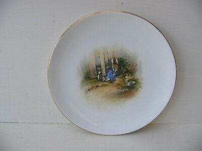1920's RARE GRIMWADES PETER RABBIT SIDE PLATE              1 OF 3