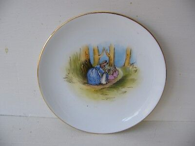 1920's RARE GRIMWADES PETER RABBIT SIDE PLATE              2 OF 3