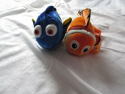 Disney Finding Nemo+ Dory Lot 2 Backpack Plush Doll
