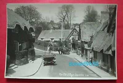 THE OLD VILLAGE, SHANKLIN, I.W. old car/horse cart early RP postcard