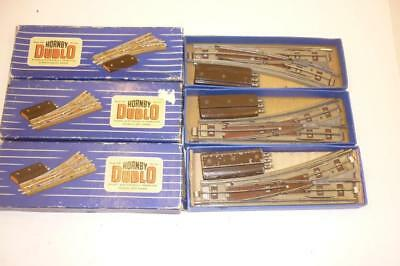 3 x HORNBY DUBLO 3 RAIL ELECTRICALLY OPERATED POINTS - EODPR/L BOXED,          g