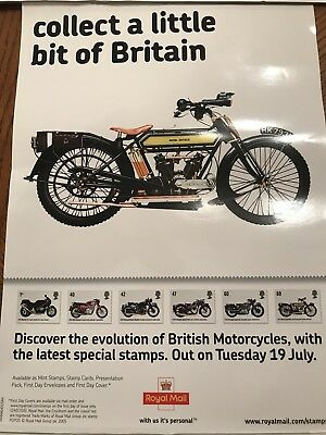 A4 Royal Mail Poster For British Motorcycles