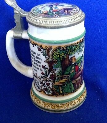 Beautiful Quality Lidded Beer Stein Never Used Lid Is Sealed - Gorgeous