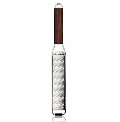 Microplane MASTER Series ZESTER GRATER Stainless Steel WOODEN HANDLE