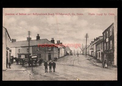 HILLSBOROUGH JUNCTION BELFAST & BALLYNAHINCH ROADS Mrs. Johnston PC 1924  - 79