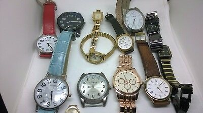 Joblot Of Mixed Watches Spares Repair Citron Ravel New Look Timex Limit Others