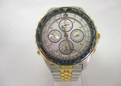 Seiko Chronograph Sky Professional Fightmaster Watch Parts Repair