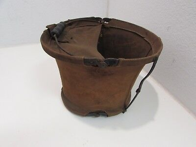 WWI era US non issue horse collapsible water bucket.   Ia
