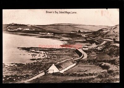LARNE BROWN'S BAY, ISLAND MAGEE Philco Series POSTCARD E20C  - 85