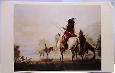 1967 Postcard Crow Encampment By Alfred Miller,indians
