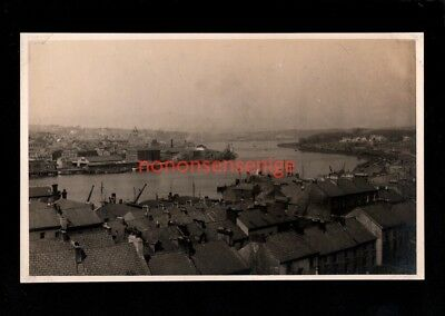 Londonderry View Of River & Docks Real Photo Postcard 1941  - 91