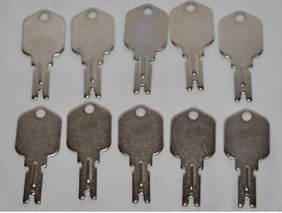 10 Ilco part number 1430 Clark Yale Daewoo Hyster Gradall JLG Forklift Key - NEW
