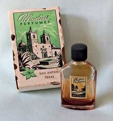 Vintage Rhodius GOLDEN SHOWERS Miniature MINI Perfume Bottle in Box 2&1/8""