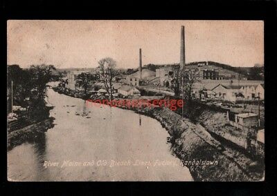 RANDALSTOWN RIVER MAINE & OLD BLEACH LINEN FACTORY Booth & Milner PC 1917  - 95