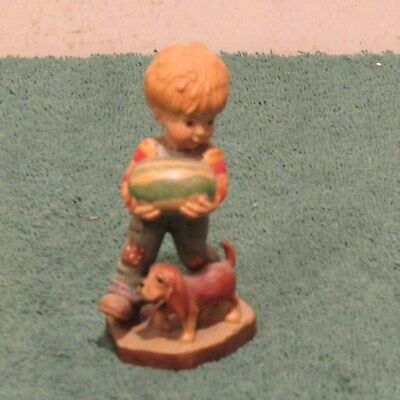 Anri Sarah Kay Valentine Little Boy With Dog Carrying Watermelon figurine