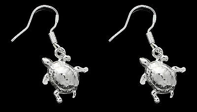 NICE 925 Sterling Silver Beautiful Baby Turtle learning to crawl Earrings Jewelr