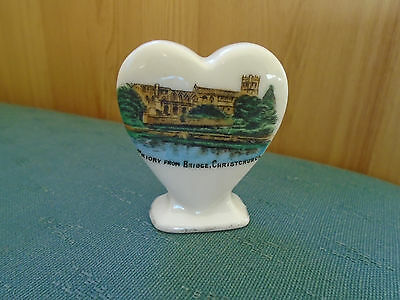 The Priory From Bridge Christchurch Picture Playing Card Marker - Crested China