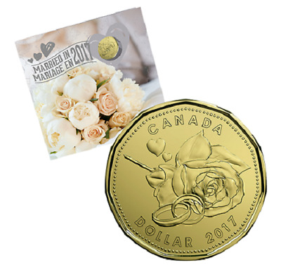 2017 MARRIED (WEDDING) GIFT SET,  with CLASSIC DESIGN COINS and SCARCE $1 COIN