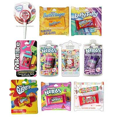 TASTE BEAUTY* (1) Lip Balm/Gloss CANDY FLAVORS Figural Containers *YOU CHOOSE*