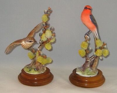"""1962 Royal Worcester Dorothy Doughty """"VERMILLION FLYCATCHERS"""" Limited Ed Of 500"""