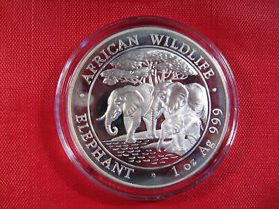 "2013 PURE Silver 1 OZ. African Wildlife ""ELEPHANT"" 100 Shillings ~ CHECK PICS!"