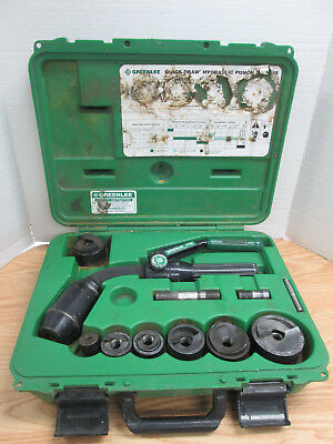 """Greenlee 7706SB Quick Draw Flex Hydraulic Punch Driver and Kit From 1/2"""" To 2"""""""