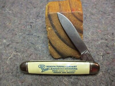 VINTAGE ADV. POCKET KNIFE/1 BL/IMPERIAL/ZEP MFG. CO./CANADA to MEX/PEARL/TRICKY!