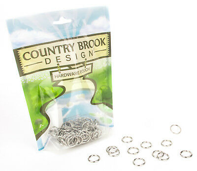 10 - Country Brook Design® 1/2 Inch Split Ring Key Chain Rings