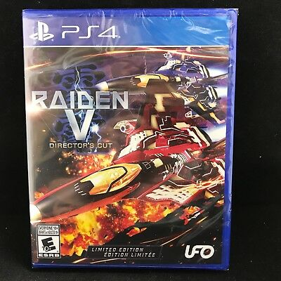 Raiden V: Director's Cut (Limited Edition) (Sony PlayStation 4, 2017) BRAND NEW