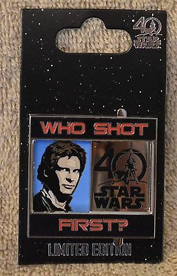 Pin 121594 Star Wars 40th Anniversary - Who Shot First? - Limited Edition 4,000