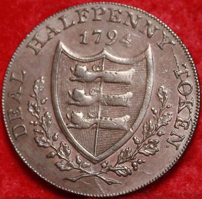 1794 Great Britain Condor Token 1/2 Penny Foreign Coin Free S/H