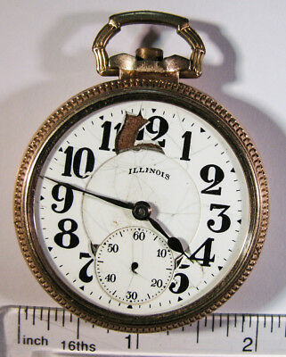 Illinois Bunn Special - Pocket Watch 16s 21 Jewels - Non-Running / Parts - 10k a