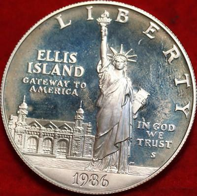 Uncirculated Proof 1986-S San Francisco Mint Ellis Island  Silver Dollar FreeS/H