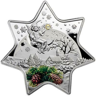 Niue 2012 $2 Christmas Star 28.28g Silver Proof Coin with Swarovski crystal