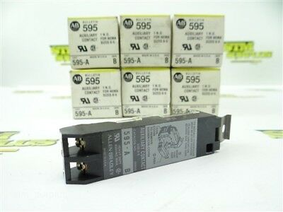 New 6Pc Lot Of Allen Bradley #595 Auxiliary Contact 1 N.o. For Nema Sizes 0-5
