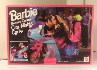 Barbie Remote Control City Nights Cycle 1995 Mattel #7005 New in Open Box