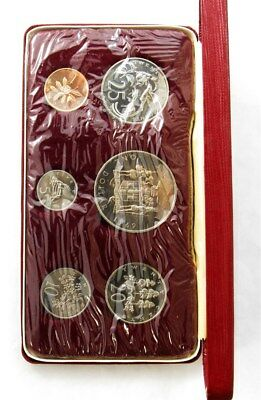 1969 Jamaica Proof Set - Sealed Mint State - Case & COA - 6 Coins