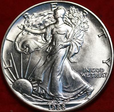 Uncirculated 1988 American Eagle Silver Dollar Free S/H