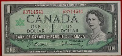 Uncirculated 1967 Canada $1 Note Free S/H!