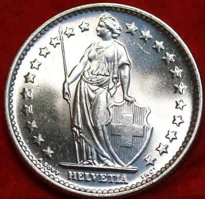 Uncirculated 1965 Switzerland 2 Francs Silver Foreign Coin Free S/H
