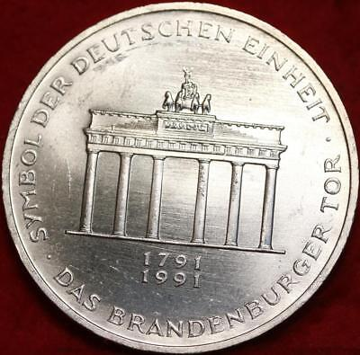 Uncirculated 1991-A Germany 10 Mark Foreign Silver Coin Free S/H