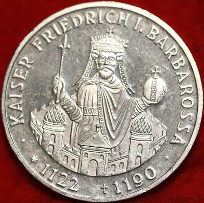 Uncirculated 1990-F Germany 10 Mark Foreign Silver Coin Free S/H