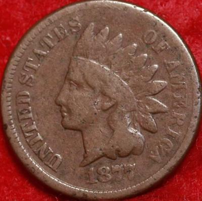 1877 Philadelphia Mint Copper Indian Head Cent Free Shipping