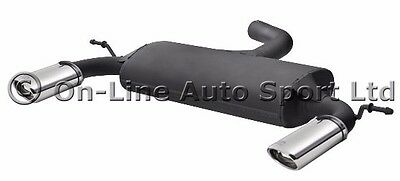 Audi A3 3 door  ('04-'11) Ulter Performance Exhaust Rear Back Box -  Dual Oval