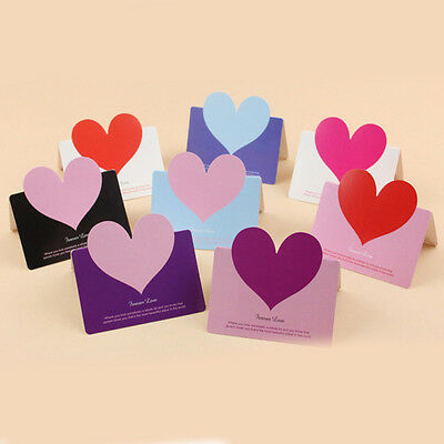 10PCS Love Heart Blessing Card Greeting Wish Message Xmas Wedding Party Acces